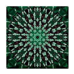 Abstract Green Patterned Wallpaper Background Tile Coasters by Nexatart