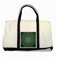 Abstract Green Patterned Wallpaper Background Two Tone Tote Bag by Nexatart