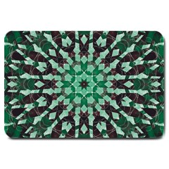 Abstract Green Patterned Wallpaper Background Large Doormat  by Nexatart