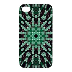 Abstract Green Patterned Wallpaper Background Apple Iphone 4/4s Premium Hardshell Case by Nexatart