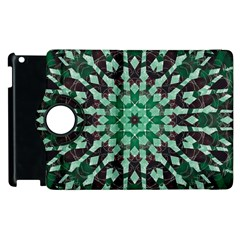Abstract Green Patterned Wallpaper Background Apple Ipad 3/4 Flip 360 Case by Nexatart
