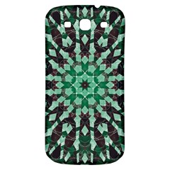Abstract Green Patterned Wallpaper Background Samsung Galaxy S3 S Iii Classic Hardshell Back Case by Nexatart