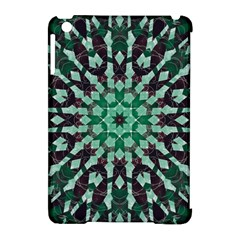 Abstract Green Patterned Wallpaper Background Apple Ipad Mini Hardshell Case (compatible With Smart Cover)