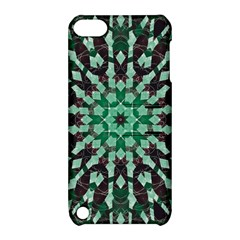 Abstract Green Patterned Wallpaper Background Apple Ipod Touch 5 Hardshell Case With Stand by Nexatart