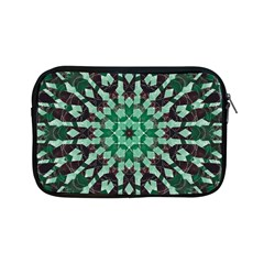 Abstract Green Patterned Wallpaper Background Apple Ipad Mini Zipper Cases by Nexatart