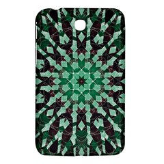 Abstract Green Patterned Wallpaper Background Samsung Galaxy Tab 3 (7 ) P3200 Hardshell Case  by Nexatart