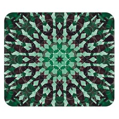 Abstract Green Patterned Wallpaper Background Double Sided Flano Blanket (small)  by Nexatart