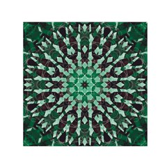 Abstract Green Patterned Wallpaper Background Small Satin Scarf (square)