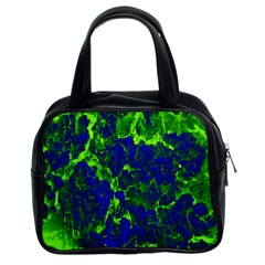Abstract Green And Blue Background Classic Handbags (2 Sides) by Nexatart