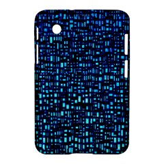 Blue Box Background Pattern Samsung Galaxy Tab 2 (7 ) P3100 Hardshell Case  by Nexatart
