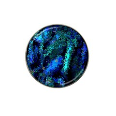 Underwater Abstract Seamless Pattern Of Blues And Elongated Shapes Hat Clip Ball Marker by Nexatart