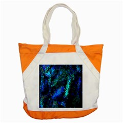 Underwater Abstract Seamless Pattern Of Blues And Elongated Shapes Accent Tote Bag by Nexatart