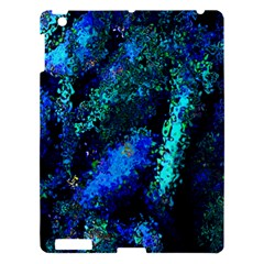 Underwater Abstract Seamless Pattern Of Blues And Elongated Shapes Apple Ipad 3/4 Hardshell Case by Nexatart