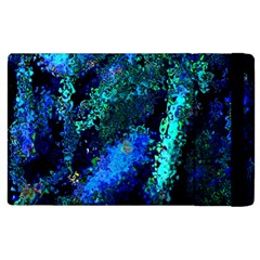 Underwater Abstract Seamless Pattern Of Blues And Elongated Shapes Apple Ipad 3/4 Flip Case by Nexatart