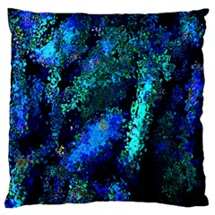 Underwater Abstract Seamless Pattern Of Blues And Elongated Shapes Standard Flano Cushion Case (one Side) by Nexatart