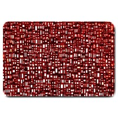 Red Box Background Pattern Large Doormat  by Nexatart