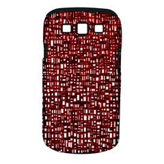 Red Box Background Pattern Samsung Galaxy S Iii Classic Hardshell Case (pc+silicone) by Nexatart
