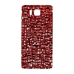 Red Box Background Pattern Samsung Galaxy Alpha Hardshell Back Case by Nexatart