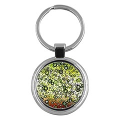 Chaos Background Other Abstract And Chaotic Patterns Key Chains (round)  by Nexatart