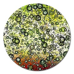 Chaos Background Other Abstract And Chaotic Patterns Magnet 5  (round) by Nexatart