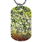 Chaos Background Other Abstract And Chaotic Patterns Dog Tag (Two Sides) Back