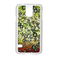 Chaos Background Other Abstract And Chaotic Patterns Samsung Galaxy S5 Case (white) by Nexatart