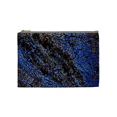 Cracked Mud And Sand Abstract Cosmetic Bag (medium)  by Nexatart