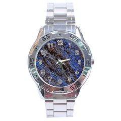 Cracked Mud And Sand Abstract Stainless Steel Analogue Watch by Nexatart