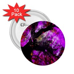 Pink Abstract Tree 2 25  Buttons (10 Pack)