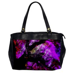 Pink Abstract Tree Office Handbags