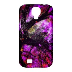 Pink Abstract Tree Samsung Galaxy S4 Classic Hardshell Case (pc+silicone) by Nexatart