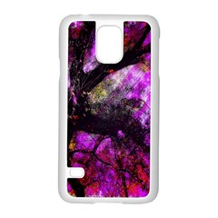 Pink Abstract Tree Samsung Galaxy S5 Case (white) by Nexatart