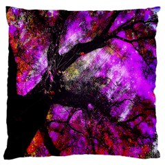 Pink Abstract Tree Standard Flano Cushion Case (one Side)