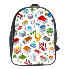 Urban Pattern  School Bags (xl)  by Alexprintshop
