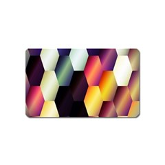 Colorful Hexagon Pattern Magnet (name Card) by Nexatart