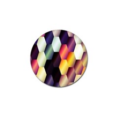 Colorful Hexagon Pattern Golf Ball Marker (10 Pack)