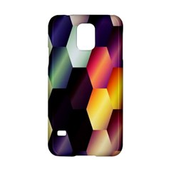 Colorful Hexagon Pattern Samsung Galaxy S5 Hardshell Case  by Nexatart