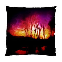 Fall Forest Background Standard Cushion Case (one Side) by Nexatart