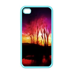 Fall Forest Background Apple Iphone 4 Case (color) by Nexatart
