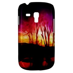 Fall Forest Background Galaxy S3 Mini by Nexatart