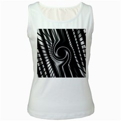 Abstract Background Resembling To Metal Grid Women s White Tank Top by Nexatart