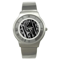 Abstract Background Resembling To Metal Grid Stainless Steel Watch by Nexatart