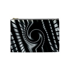 Abstract Background Resembling To Metal Grid Cosmetic Bag (medium)  by Nexatart