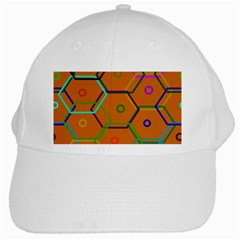 Color Bee Hive Color Bee Hive Pattern White Cap by Nexatart