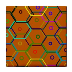 Color Bee Hive Color Bee Hive Pattern Tile Coasters