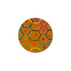 Color Bee Hive Color Bee Hive Pattern Golf Ball Marker (4 Pack) by Nexatart