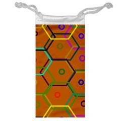 Color Bee Hive Color Bee Hive Pattern Jewelry Bag by Nexatart