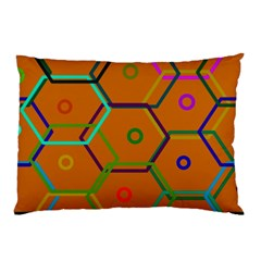 Color Bee Hive Color Bee Hive Pattern Pillow Case by Nexatart