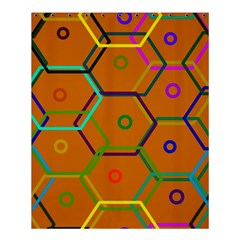 Color Bee Hive Color Bee Hive Pattern Shower Curtain 60  X 72  (medium)  by Nexatart
