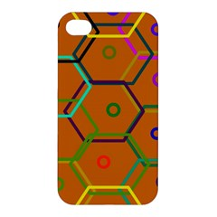 Color Bee Hive Color Bee Hive Pattern Apple Iphone 4/4s Hardshell Case by Nexatart